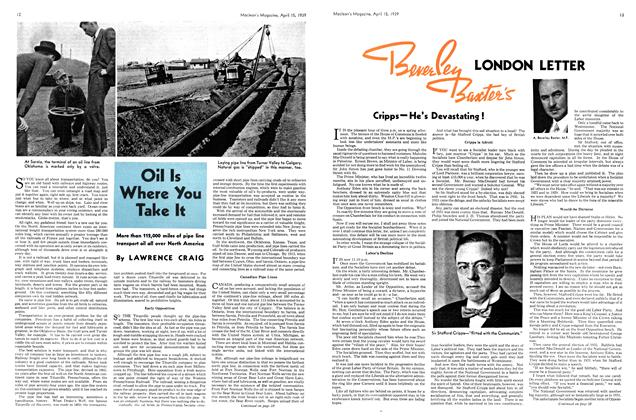 Article Preview: Oil Is Where You Take It, April 1939 | Maclean's