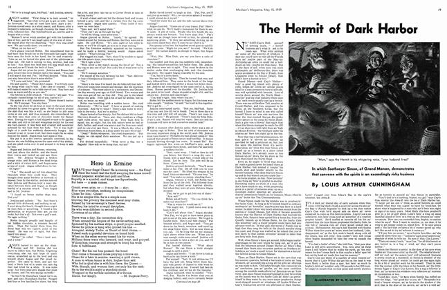 Article Preview: The Hermit of Dark Harbor, May 1939 | Maclean's