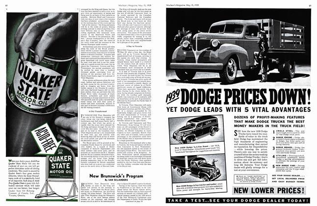 Article Preview: New Brunswick's Program, May 1939 | Maclean's