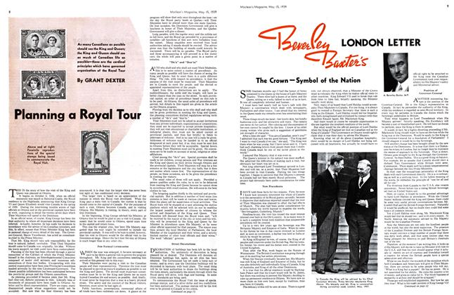 Article Preview: Planning a Royal Tour, May 1939 | Maclean's