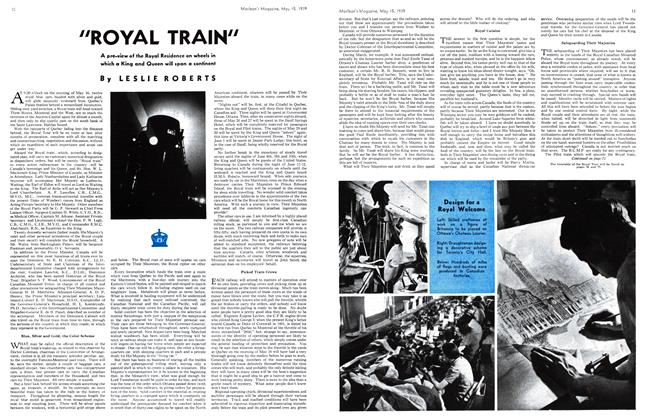 "Article Preview: ""ROYAL TRAIN"", May 1939 