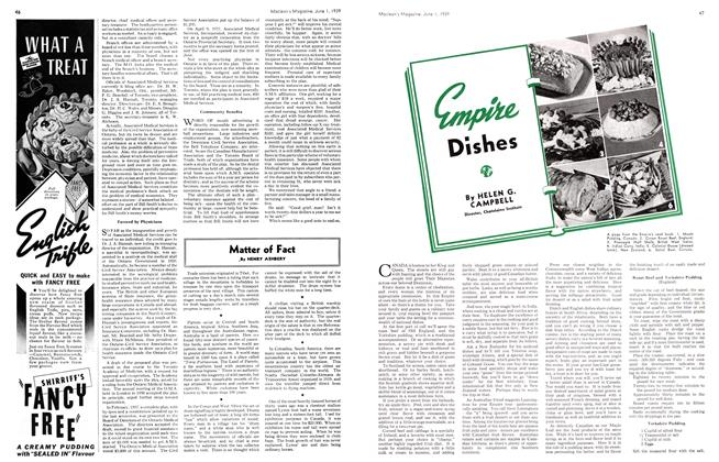 Article Preview: Empire Dishes, June 1939 | Maclean's