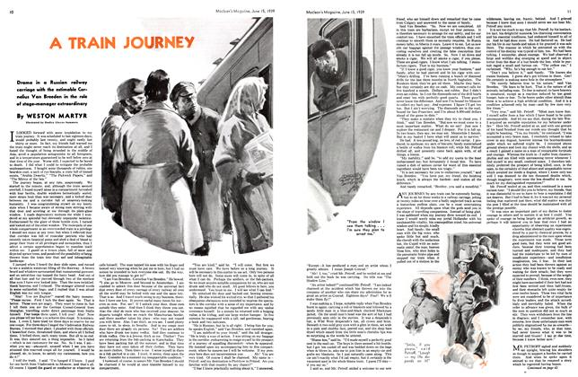 Article Preview: A TRAIN JOURNEY, June 1939 | Maclean's