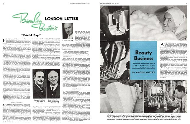 Article Preview: LONDON LETTER, June 1939 | Maclean's