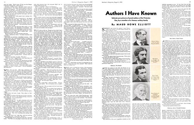 Article Preview: Authors I Have Known, August 1939 | Maclean's