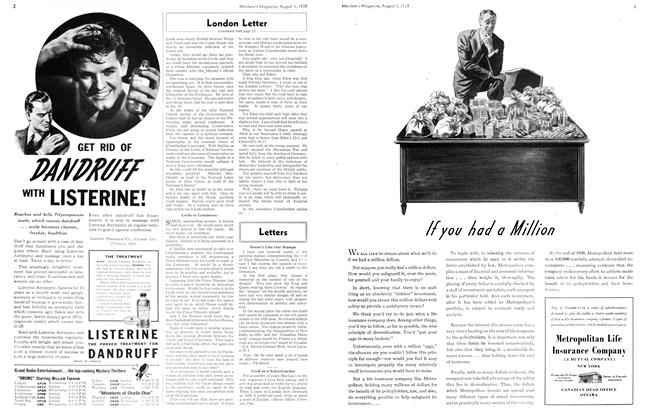 Article Preview: London Letter, August 1939 | Maclean's