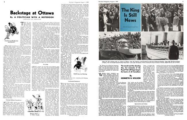 Article Preview: The King Is Still News, August 1939 | Maclean's