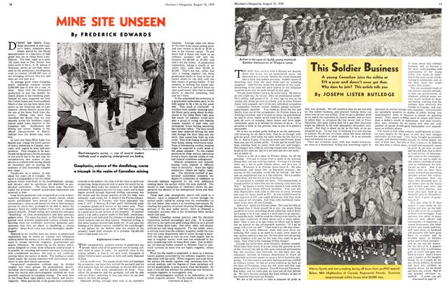 Article Preview: MINE SITE UNSEEN, August 1939 | Maclean's
