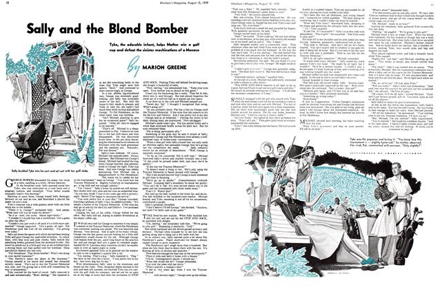 Article Preview: Sally and the Blond Bomber, August 1939 | Maclean's