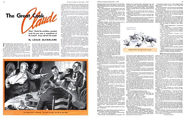 Article Preview: The Great Cook Claude, September 1939 | Maclean's
