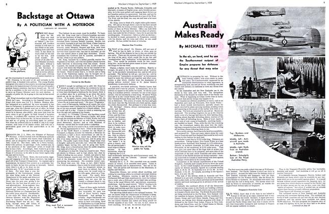 Article Preview: Australia Makes Ready, September 1939 | Maclean's