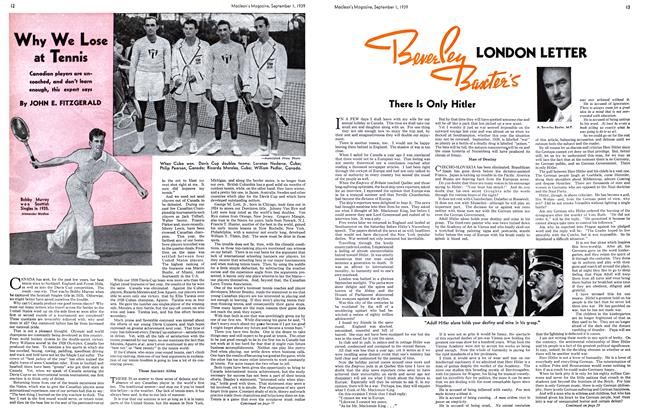 Article Preview: LONDON LETTER, September 1939 | Maclean's