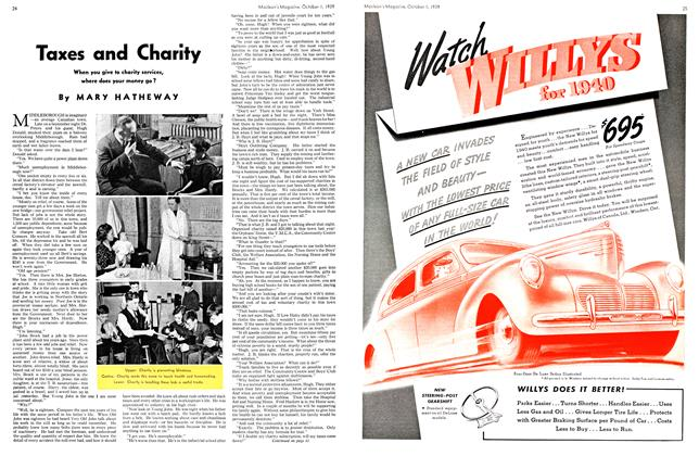 Article Preview: Taxes and Charity, October 1939 | Maclean's