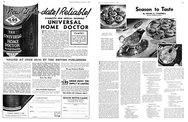 Article Preview: Season to Taste, October 1939 | Maclean's