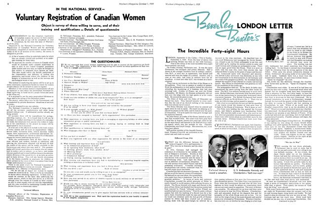 Article Preview: LONDON LETTER, October 1939 | Maclean's