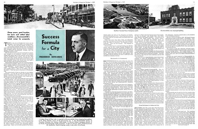 Article Preview: Success Formula for a City, October 1939 | Maclean's