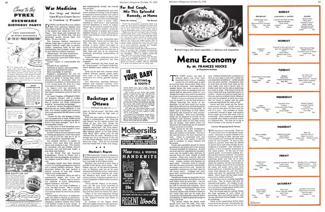 Article Preview: Menu Economy, October 1939 | Maclean's