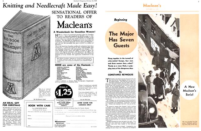 Article Preview: The Major Has Seven Guests, October 1939 | Maclean's