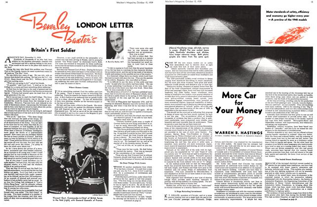 Article Preview: Beverley Baxter's LONDON LETTER, October 1939 | Maclean's