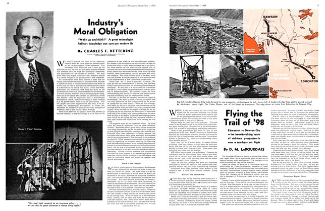 Article Preview: Flying the Trail of '98, November 1939 | Maclean's