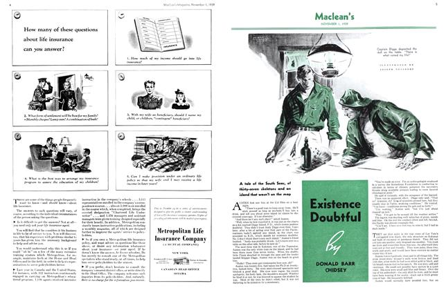 Article Preview: Existence Doubtful, November 1939 | Maclean's