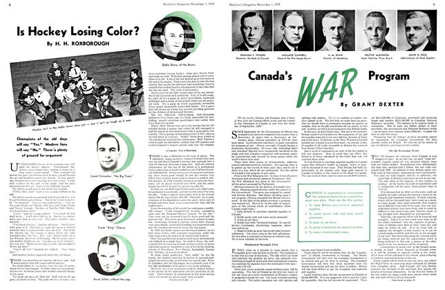 Article Preview: Is Hockey Losing Color?, November 1939 | Maclean's