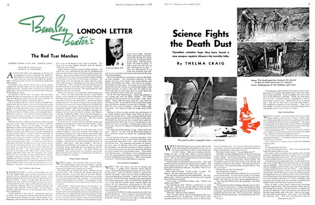 Article Preview: Science Fights the Death Dust, November 1939 | Maclean's