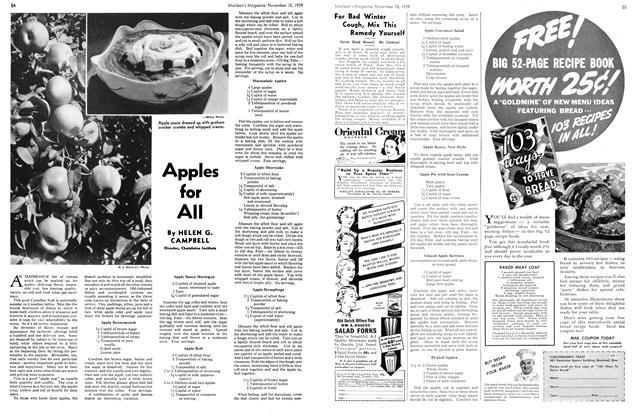 Article Preview: Apples for All, November 1939 | Maclean's