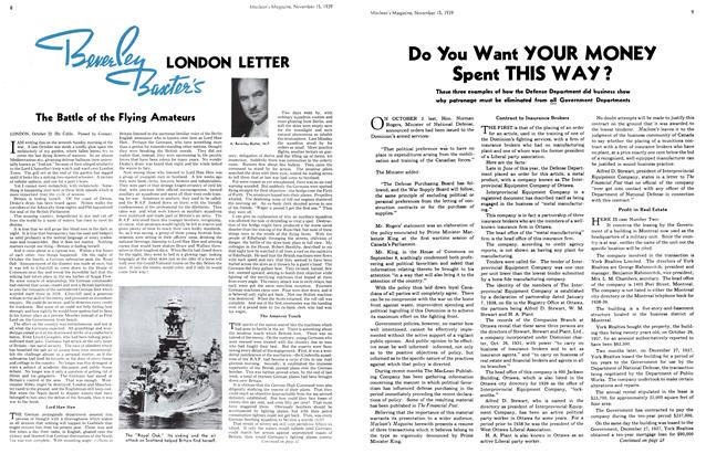Article Preview: LONDON LETTER, November 1939 | Maclean's