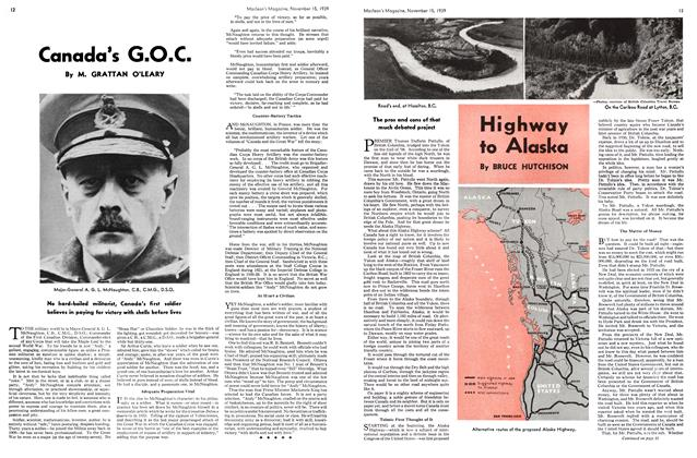 Article Preview: Canada's G.O.C., November 1939 | Maclean's