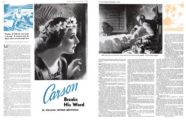 Article Preview: Carson Breaks His Word, December 1939 | Maclean's