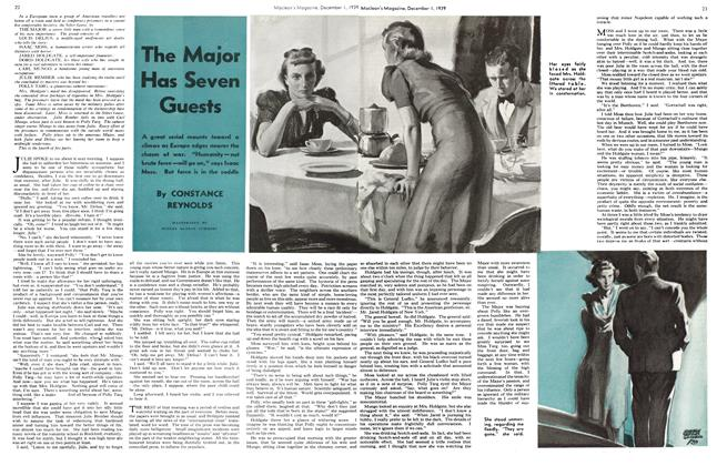 Article Preview: The Major Has Seven Guests, December 1939 | Maclean's