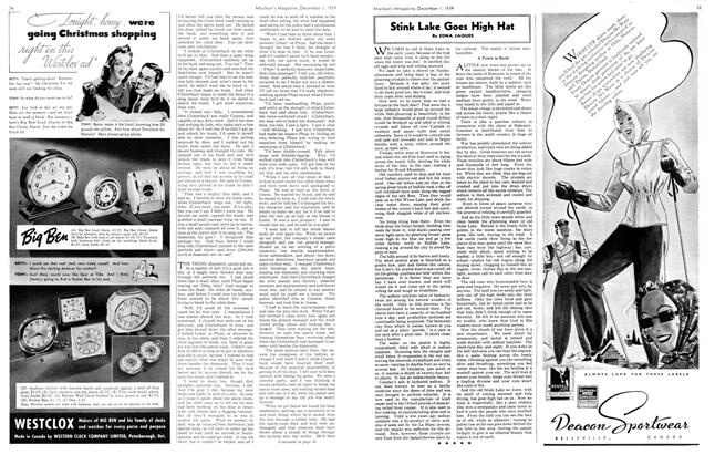 Article Preview: Stink Lake Goes High Hat, December 1939   Maclean's