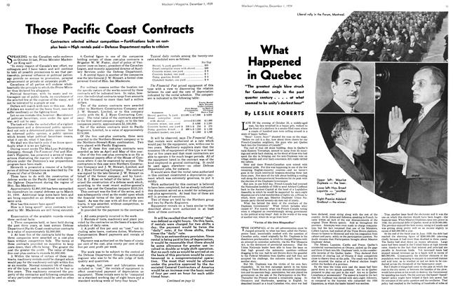Article Preview: Those Pacific Coast Contracts, December 1939 | Maclean's