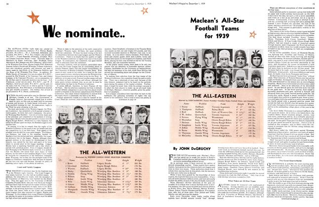 Article Preview: We nominate.. Maclean's All-Star Football Teams for 1939, December 1939 | Maclean's
