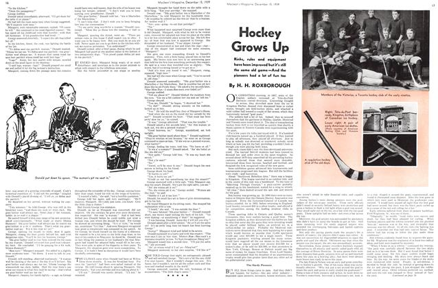 Article Preview: Hockey Grows Up, December 1939 | Maclean's