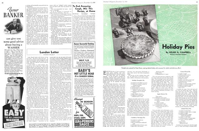 Article Preview: Holiday Pies, December 1939 | Maclean's
