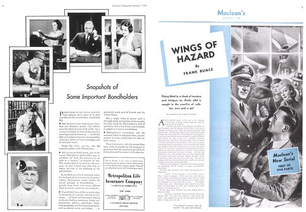 Article Preview: WINGS OF HAZARD, January 1940 | Maclean's