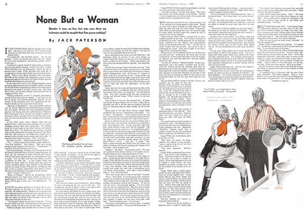 Article Preview: None But a Woman, January 1940 | Maclean's
