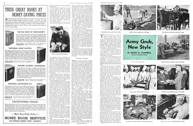 Article Preview: Army Grub, New Style, January 1940 | Maclean's