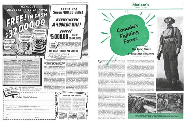 Article Preview: Canada's Fighting Forces, January 1940 | Maclean's