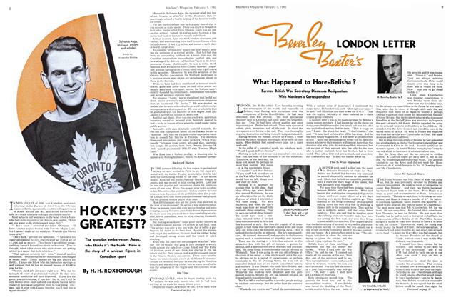 Article Preview: HOCKEY'S GREATEST?, February 1940 | Maclean's