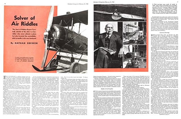 Article Preview: Solver of Air Riddles, February 1940 | Maclean's