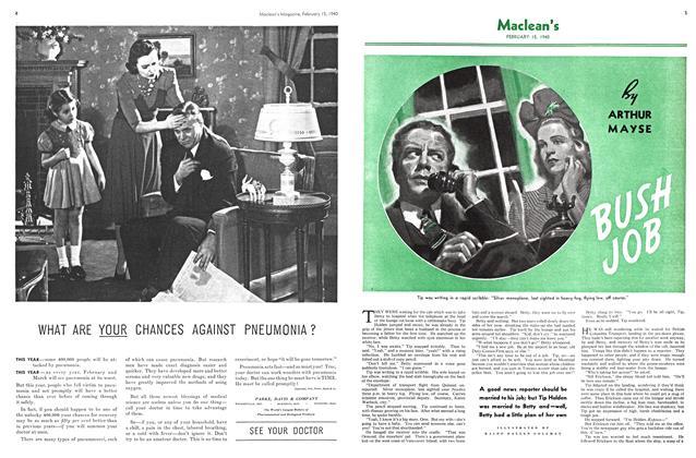 Article Preview: BUSH JOB, February 1940   Maclean's