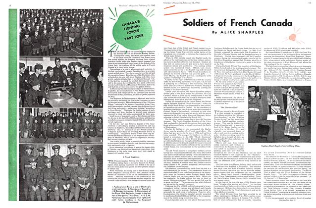 Article Preview: Soldiers of French Canada, February 1940 | Maclean's