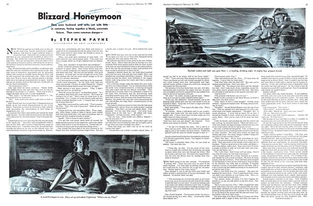Article Preview: Blizzard Honeymoon, February 1940 | Maclean's