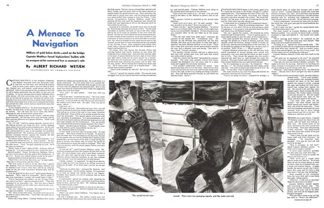 Article Preview: A Menace To Navigation, March 1940 | Maclean's