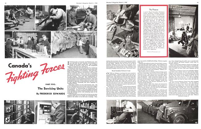 Article Preview: Canada's Fighting Forces, March 1940 | Maclean's
