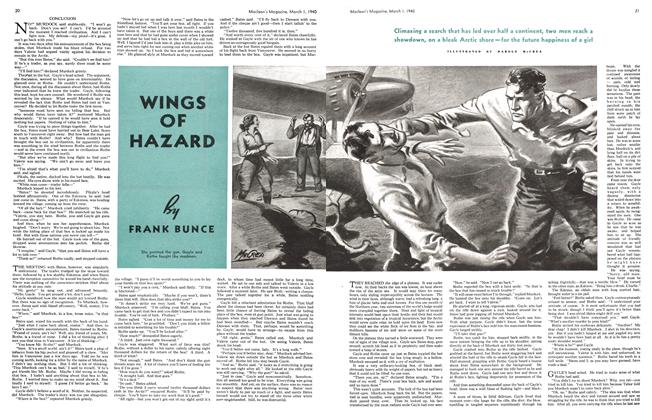 Article Preview: WINGS OF HAZARD, March 1940 | Maclean's
