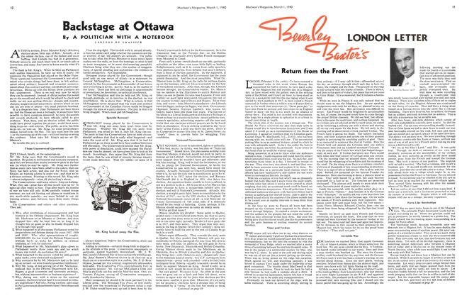 Article Preview: Backstage at Ottawa, March 1940 | Maclean's
